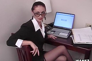 Sophisticated Business Woman In Sexy Striptease