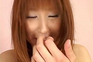 Monami Sakura Asian model gets anal finger penetration