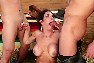 Amazing pornstar Veronica Avluv in horny blowjob, brunette adult movie