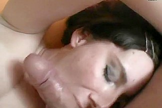 French chubby brunette fuck facial