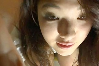 Japanese teenage cute hot babe wanking off shows her snatch