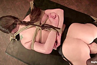 Winter Sky in Winter Sky:  Fresh From The Casting Couch To Intense Orgasms - HogTied