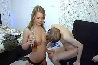 Russian babe alenuska 4 way group sex