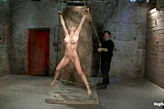 Tickling, flogging, caning. We make her cum over & overCrotch rope & suspend her from wrists!