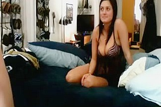 Breasty  immature Widens Her Legs and Receives Screwed