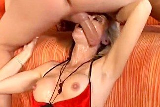 Hottest Amateur video with Blonde, Facial scenes