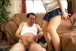 Asian feet  legs and handjob 1
