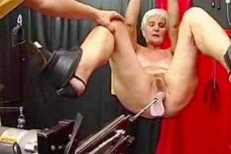 One More Granny Works out on a Sex Machine