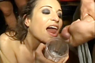 Best pornstars Andy San Dimas, Bobbi Starr and Chris Streams in fabulous group sex, bukkake adult scene