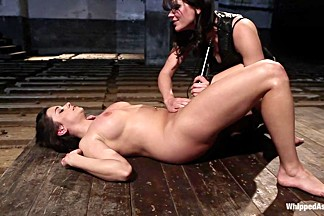 Fabulous lesbian, fetish xxx scene with hottest pornstars Bobbi Starr and Taylor Vixen from Whippedass