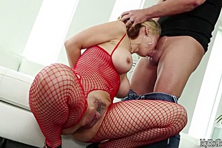 When Sarah Vandella wears all fishnet body stockings, something about it just brings