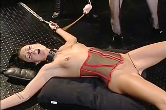 Babe Terrorized By Two Strap-on Whores