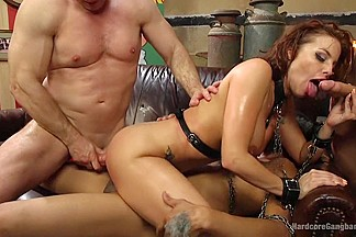 Britney amber gets jam packed horny filthy circus performers!