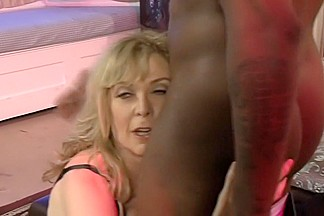 Fabulous pornstar Nina Hartley in hottest stockings, blonde adult scene