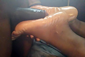 Sleep footjob *cumshot* hershey soles