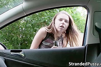 Alluring hot teen Marina Visconti gets banged hard by Thomas in the car