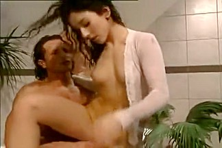 Exotic Amateur movie with Brunette, Shower scenes