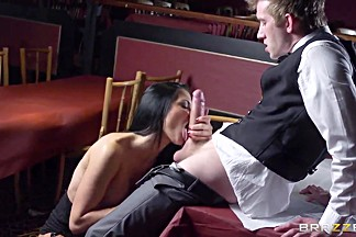 Wondreful brunette American pornstar Danny D fucks wildly