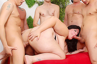 Becki Butterfly in Cock Hungry Bbw Becki Butterfly Fucks On Five Thick Poles - JeffsModels