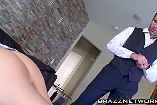 Perfect babes Audrey and Nicole get banged by a lucky dude