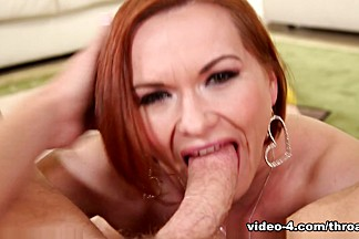 Hottest pornstars Mark Wood, Katja Kassin in Incredible Redhead, Blowjob sex scene