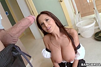 Milf Ava Addams and Mae Olsen get share stif cock