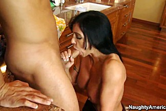 Danny Mountain fucking his friend's hot mom Jewels Jade with long dark hair