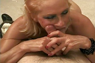 Chubby Mature Blonde Swallows Every Drop