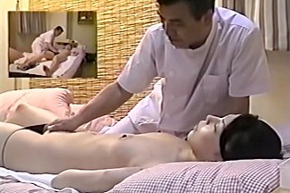 Lovely Asian girl fingered in hot voyeur massage video