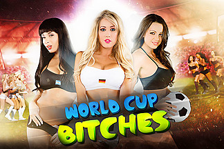 Anissa Kate, Capri Cavanni, Jamie Stone & Ryan Driller  in World Cup Bitches