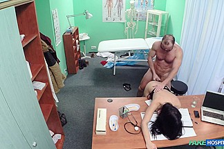 Alex in Sexy patient is given the cock cure in a bid to lift her spirits - FakeHospital
