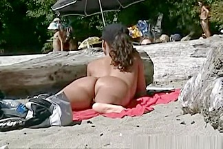 Caught on nudist beach