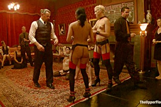 Krysta Kaos & Lily LaBeau & Dylan Ryan & Beretta James & Derrick Pierce in Slave Initiation: Piggy Part 2 - TheUpperFloor
