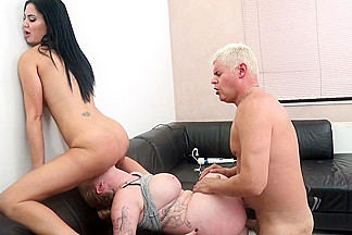 Harmony Reigns & Jasmine Jae & Porno Dan in Busty Harmony Reigns and Jasmine Jae Pussy Pounding Threesome - ImmoralLive